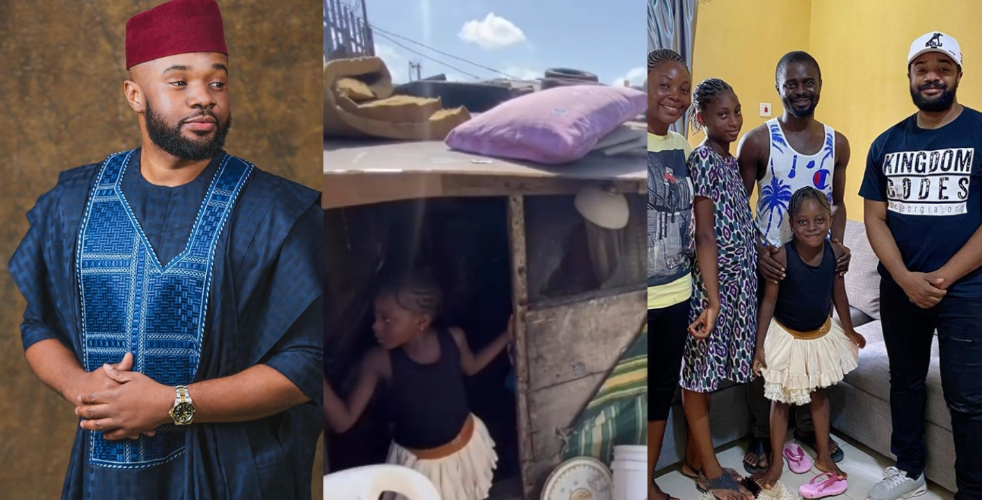 Nigerians shed tears as Williams Uchemba builds new house for a family living in a slum