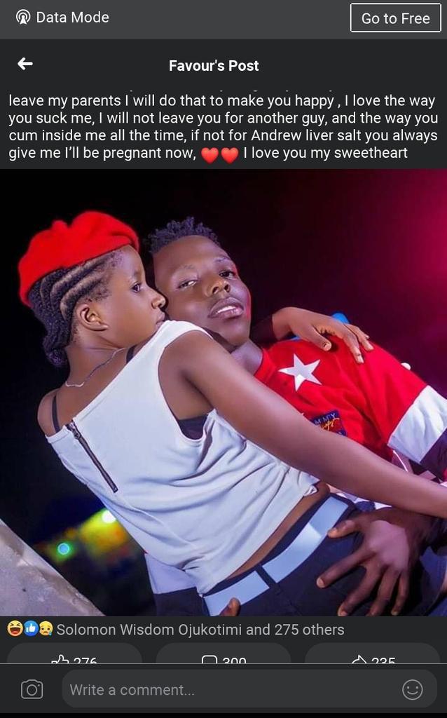 Girl professes love for her boyfriend