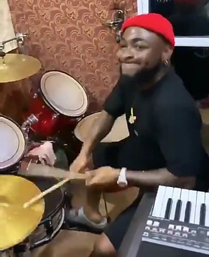 Davido drumming in Church