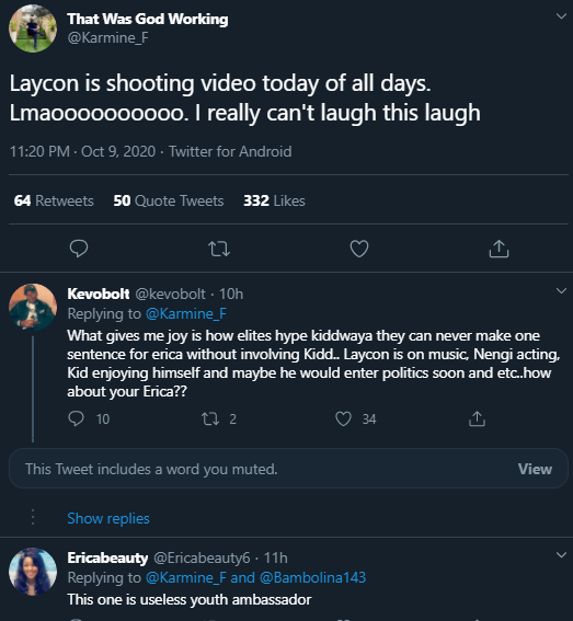 laycon useless ambassador