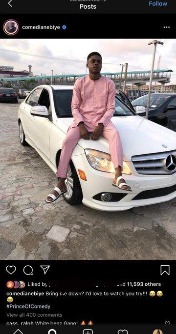 Ebiye called out over Benz